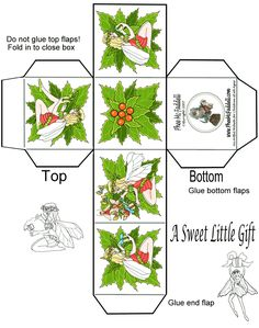 A Mini Christmas Gift Box Template Miniature Christmas, Christmas Minis, Christmas Paper, Christmas Holidays, Christmas Crafts, Christmas Boxes, Christmas Tree, Christmas Gift Box Template, Christmas Printables