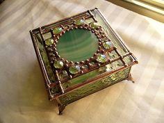 Stained Glass BoxJewelry BoxGlass Art Box by CreativeSpiritGlass
