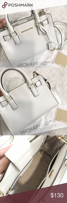 Michael Kors Small Dillon Satchel Crossbody Bag I've used this bag so much and it's still in great condition. Some of the hardware is scratched and there are minor denim stains on the back. Dust bag included. Michael Kors Bags Crossbody Bags