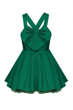 bow back dress  (loving the color emerald!)