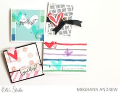 Easy Valentines Day Cards by Meghann Andrew for Elle's Studio