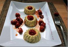Le pellegrine Artusi: Sformatini di formaggio con pomodorini caramellati...