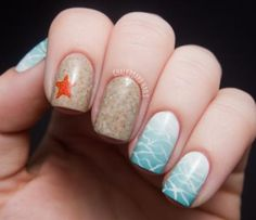 Incredible summer nail art beach scene by Sarah Waite of Chalkboard Nails | NailIt! Magazine