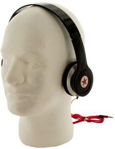 Stereo Headphones - Black, Red, Silver