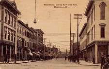 Middletown Ohio Third Street Scene Store Fronts Antique Postcard K32070