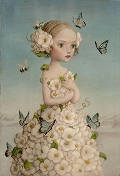 "Nicoletta Ceccoli ~ Click through the large version for a full-screen view (on a black background in Firefox), set your computer for full-screen. ~ Mik's Pics ""Artsy Fartsy V"" board Art And Illustration, Inspiration Art, Art Inspo, Fantasy Kunst, Fantasy Art, Arte Lowbrow, Art Fantaisiste, Mark Ryden, Whimsical Art"