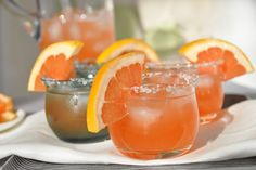 SoNo Sunrise: pink grapefruit, vodka, a little pomegranate liqueur, simple sugar and lime...says summer anytime :)