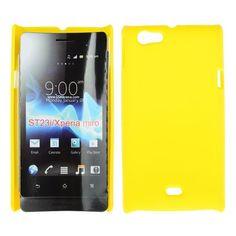 Hard Shell (Gul) Sony Xperia Miro Deksel