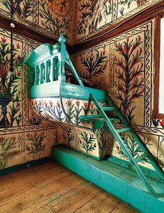 The muezzin's platform at Akköy Mosque - Photograph by Tarkan Kutlu, courtesy of Yapi Kredi Publishing. Turkish Architecture, Sacred Architecture, Historical Architecture, Architecture Details, Interior Architecture, Islamic World, Islamic Art, Gothic Furniture, Beautiful Mosques
