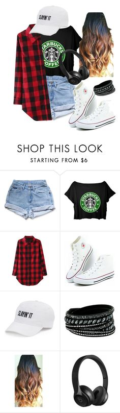 """Sem título #54"" by mariaju25 ❤ liked on Polyvore featuring Levi's, SO, Swarovski and Beats by Dr. Dre"