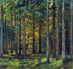 Ivan Shishkin (1832-1898): Fir forest