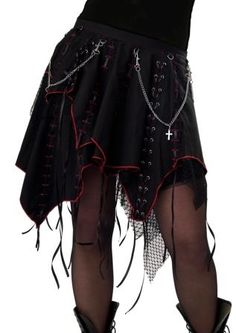 Dead Threads Goth Skirt with lace and corset detail. $132