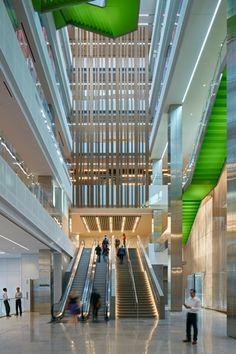 Deloitte Toronto national HQ lobby escalator