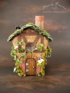 Fae House Pixie. Paper Clay. Fantasy creations.
