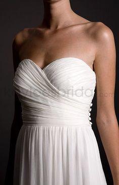 Chiffon Strapless Sweetheart Sheath Wedding Dress