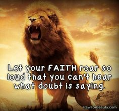 Don't let doubt overcome