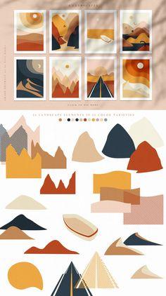 Grand Abstract - Geometric Alphabet by Veris Studio on Create Wedding Invitations, Kalender Design, Art Design, Design Set, Vector Design, Design Elements, Collage, Guache, Grafik Design
