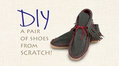 Dritz Espadrilles Video Tutorial: Make a Pair of Easy-Sew Fringed Moccasins. Fashion Sewing, Diy Fashion, Fall Fashion, How To Make Moccasins, Nancy Notions, Easy Sewing Projects, Fun Projects, Create And Craft, Leather Craft