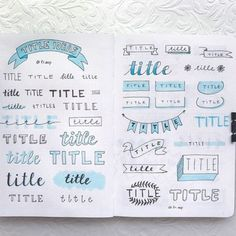 How To Start A Bullet Journal. The ultimate bullet journal guide for beginners! Learn how to set up your bullet journal planner, design a layout, and organize your life using a bullet journal! Includes page ideas for bullet journal spreads! Bullet Journal School, Bullet Journal Inspo, Bullet Journal Headers, Bullet Journal Banner, Bullet Journal 2019, Bullet Journal Aesthetic, Bullet Journal Notebook, Bullet Journal Ideas Pages, Bullet Journal Title Fonts