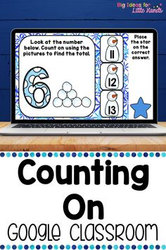 This Google Classroom activity teaches students early addition strategies by have kids count on from a given number. This digital activity helps students learn counting & number recognition. Embrace technology in your January math small groups & centers or stations. This fun, paperless, no prep Google Slides game is great for Distance Learning with Preschool, Kindergarten, 1st Grade Elementary kids. No worksheet needed! Each card has a fun Winter theme filled with snow, snowman, penguins, & more
