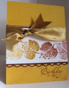 F4A129 Autumn Birthday by cardmaker2 - Cards and Paper Crafts at Splitcoaststampers