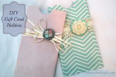 easy DIY Gift card holder made from a toilet paper roll