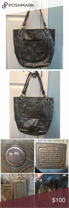 Authentic Leather Coach Bag Beautiful Coach leather bag. Excellent condition on the outside. The inside lining is a little discolored as shown in the pics. Please ask any questions before purchasing :) Coach Bags Shoulder Bags