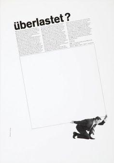 Überlastet? 1962  Design: Gerstner + Kutter, Basel, CH