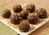 Vegan Chocolate Coconut Truffles - I really want to try this one!