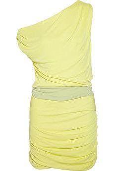 Halston Heritage - Off-the-shoulder jersey dress