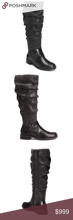 """👠COMING SOON👠 Ride With me tall boot - black combo  A2 by Aerosoles. Walk tall this season. Unique ruching on the shaft gives this knee-high riding boot a super trendy look. Ankle strap with buckle, a 1"""" heel and a rounded toe are the design details of this classic style. Delightfully soft memory foam footbed for get up and go. Easy pull-on entry.  15 3/4"""" Approximate Shaft Height 14 1/2""""- 17"""" Approximate Shaft Circumference Shoes Over the Knee Boots"""