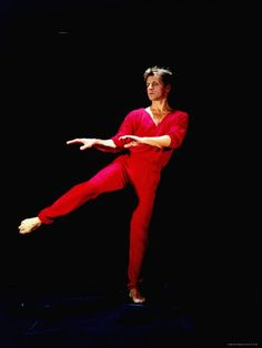 """Practicing moves from Merce Cunningham's """"Signals"""""""