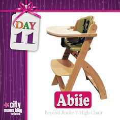12 Days of Christmas Giveaways :: Enter Now to Win a Beyond Junior Y High Chair from Abiie {Day 11} | City Moms Blog Network