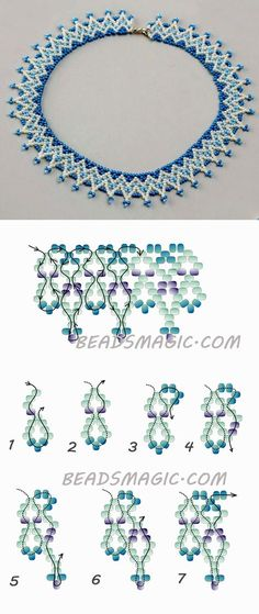 Free pattern for necklace Welkin Best Picture For DIY Necklace hippie For Your Taste You are lo Diy Necklace Patterns, Seed Bead Patterns, Beading Patterns, Beaded Jewelry Designs, Bead Jewellery, Seed Bead Jewelry, Diy Jewelry Tutorials, Beading Tutorials, Jewelry Crafts