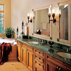 Romantic bathroom spa idea hometrendesign.com