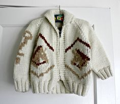 Vintage Horse Cowichan Sweater Handmade size by TheVintageNursery, $40.00