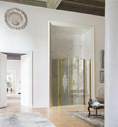 Gold collection #Vismaravetro - Cabine doccia #madeinitaly - www.gasparinionline.it #design #doccia #shower #weloveit