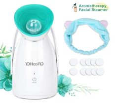 12.YOHOOLYO Aromatherapy Facial Steamer Warm Mist Spa Face Steamer Moisturizing Humidifier Atomizer with Essential Oil Box, Cotton Piece and Head Band Essential Oil Box, Essential Oil Diffuser, Face Steamer, Face Home, Skin Care Tools, Home Spa, Best Anti Aging, Aromatherapy, Mists