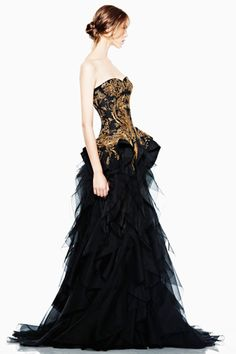 McQueen Resort 2012.  If I had a fancy ball to attend, I would wear this for sure