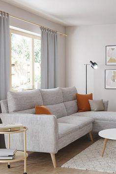 Sofa Skandinavisch, Sofas, Sofa Design, Living Room Furniture, Love Seat, Sweet Home, House Design, Home Decor, Home