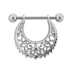 Image result for metal filigree nipple jewelry