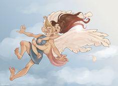 On Eros' wings by Ninidu.deviantart.com on @DeviantArt