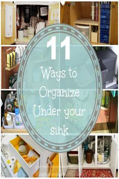 11 Ways to Organize the area under your sink (lazy susan and pullout bins)