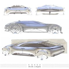 Superbly simple Honda thesis project by Lukas Rossnagel at last summer's Pforzheim degree show. Café Exterior, Exterior Design, Exterior Stairs, Exterior Cladding, Cottage Exterior, Car Design Sketch, Car Sketch, Elephant Sketch, Car Side View