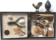 assemblage in collage & mixed media