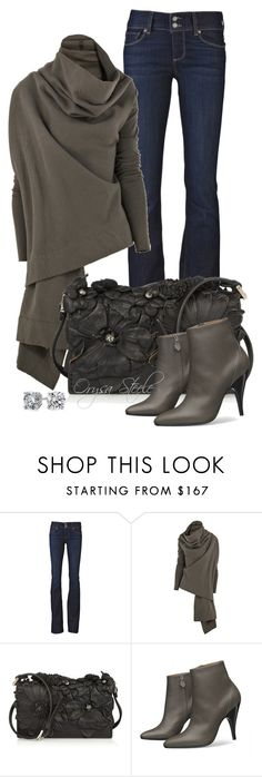 """Tres Chic"" by orysa ❤ liked on Polyvore featuring Paige Denim, DRKSHDW, Valentino, Hermès and Blue Nile"