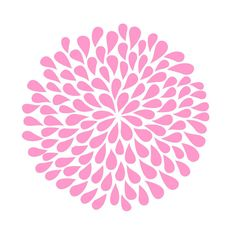 Flower Bloom wall decal - 10 inches - large flower vinyl wall decal - teen tween flower wall decal  sc 1 st  Pinterest & Flower Wall Decals | Another Bunch of Dahlia Flowers Vinyl Wall ...