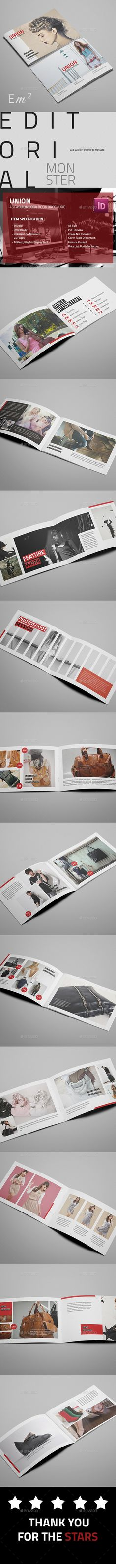 Union - Fashion Look Book (CS4, 210x148, a5, booklet, brochure, business, catalogue, clean, company, creative, customizable, design, display, elegant, fashion, flexible, hotel, indesign, interior, landscape, layout, look book, minimal, modern, photography, portfolio, portfolio agency, retail, showcase, simple)