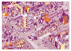 Stadt Wimmelbild Hamm // Illustrated city map  Hamm, Germany// dianakoehne.de #illustration
