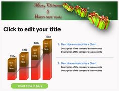 New Year and Christmas PowerPoint Template - New Year and Christmas ppt templates Christmas Powerpoint Template, Ppt Template, Templates, Create Yourself, Stencils, Vorlage, Models